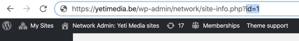 Wordpress multisite sites
