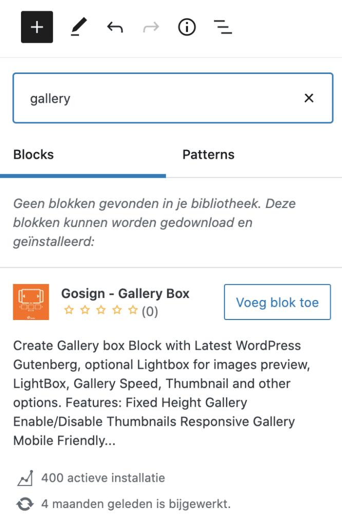 wordpress block directory